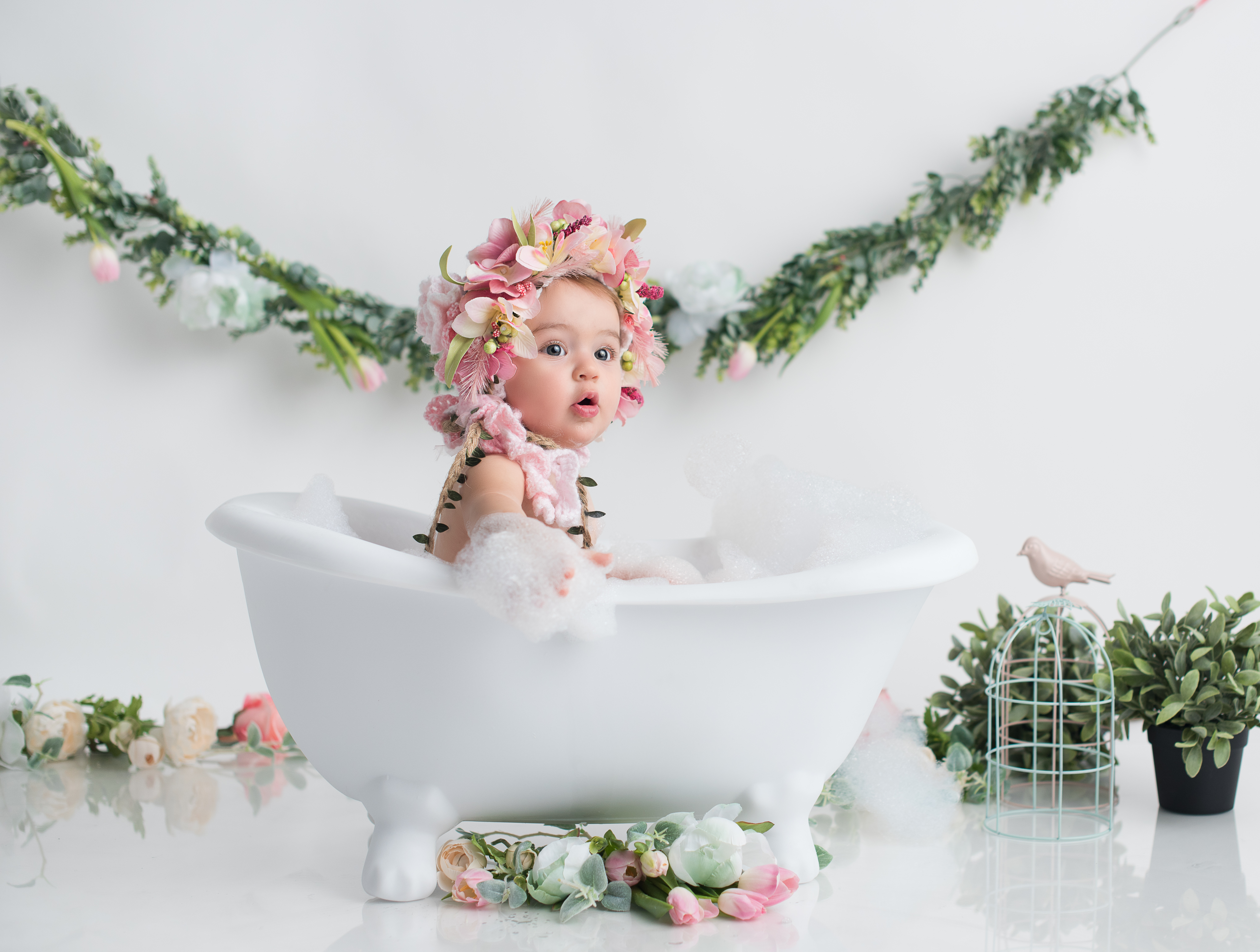 baby in tub
