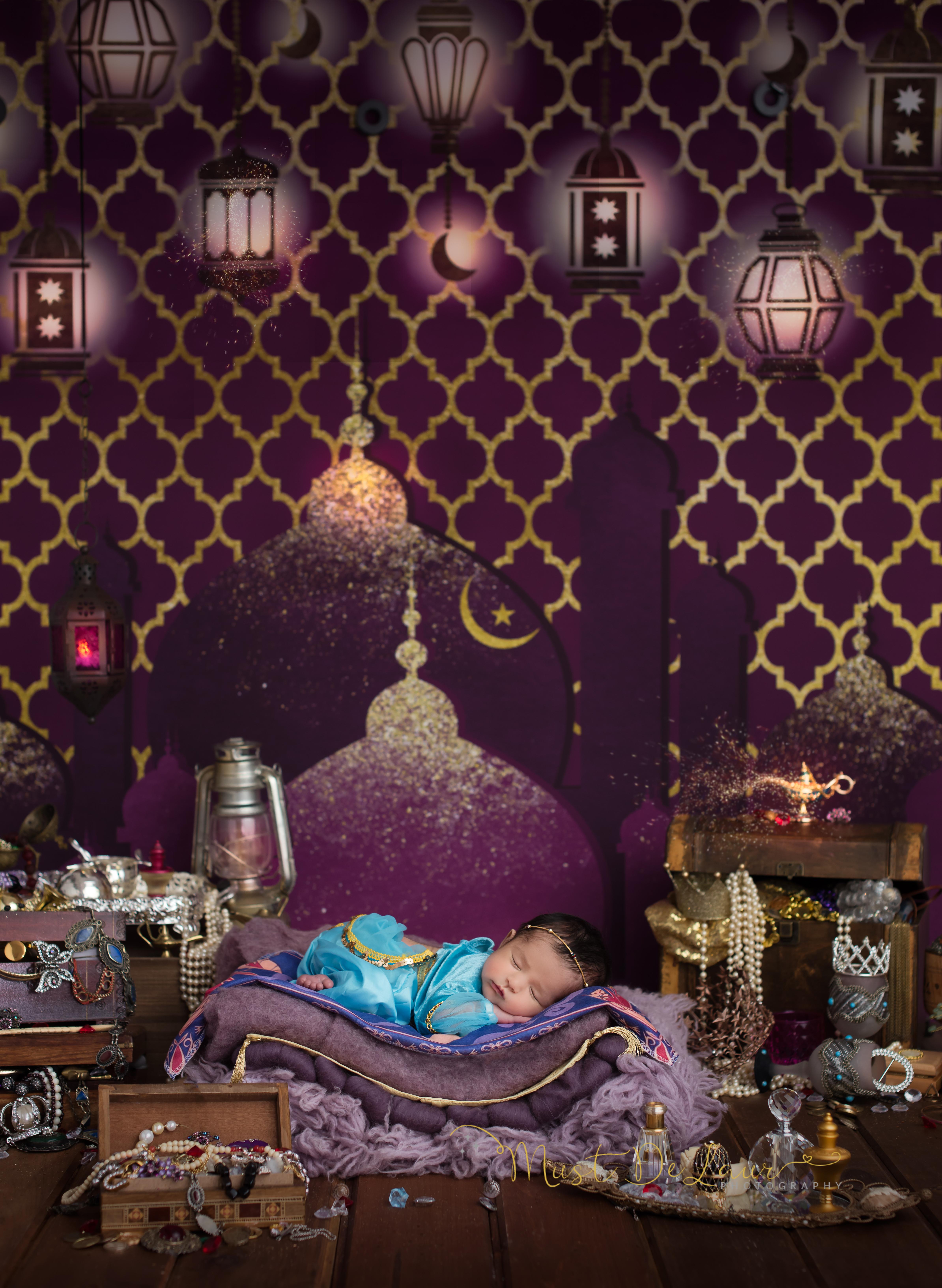 Aladdin inspired newborn session
