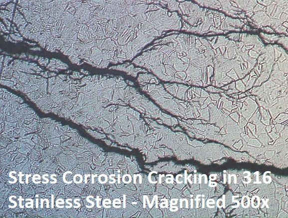 HowNOTtoHighline Bolting Bible Book of Metal Stress Corrosion Cracking 316 Stainless Steel Magnified 500x