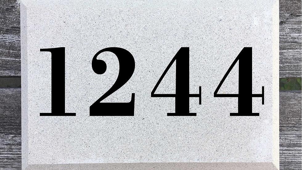 Beveled Edge 12 x 8 x 2 3/4 Bodoni Font