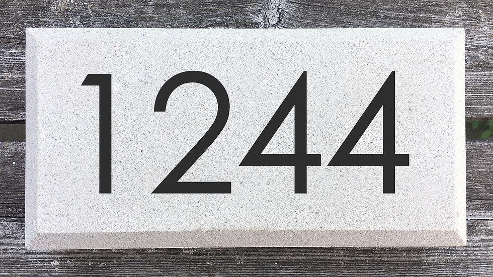 Beveled Edge 12 x 6 x 2 3/4 Century Gothic Font