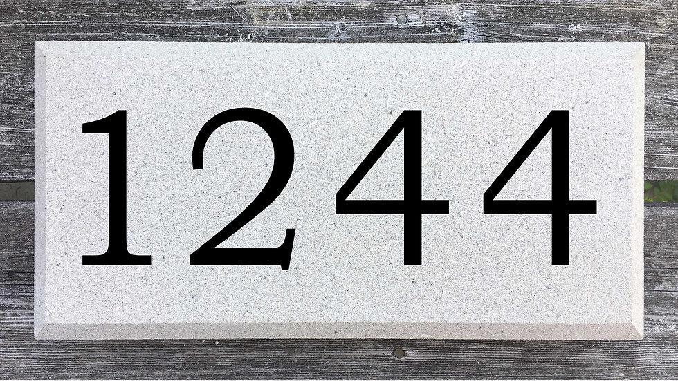 Beveled Edge 15 5/8 x 7 5/8 x 2 3/4 Bookman Font