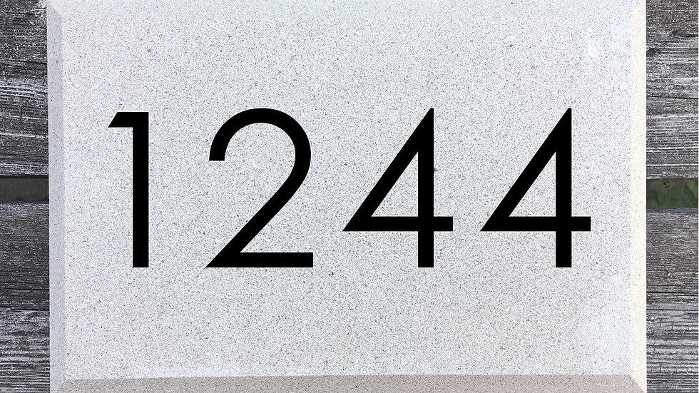 Beveled Edge 12 x 8 x 2 3/4 Century Gothic Font