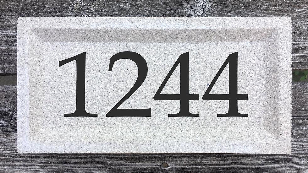 Recessed Edge 12 x 6 x 2 3/4 Book Antiqua Font