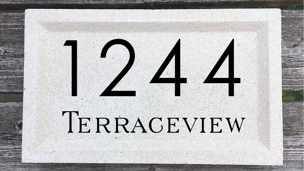 Recessed Edge 15 x 9 x 2 3/4 Century Gothic Font and Serif Street Name