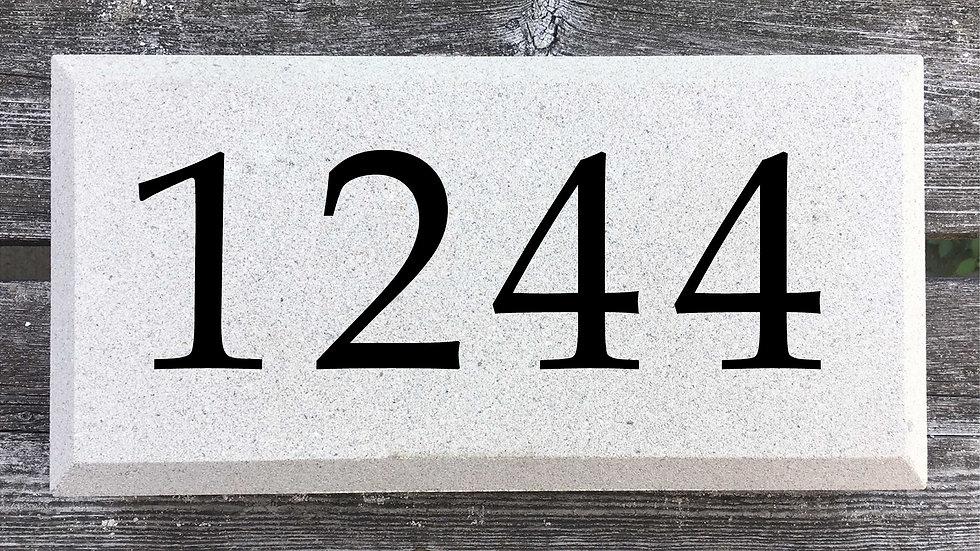 Beveled Edge 12 x 6 x 2 3/4 Book Antiqua Font
