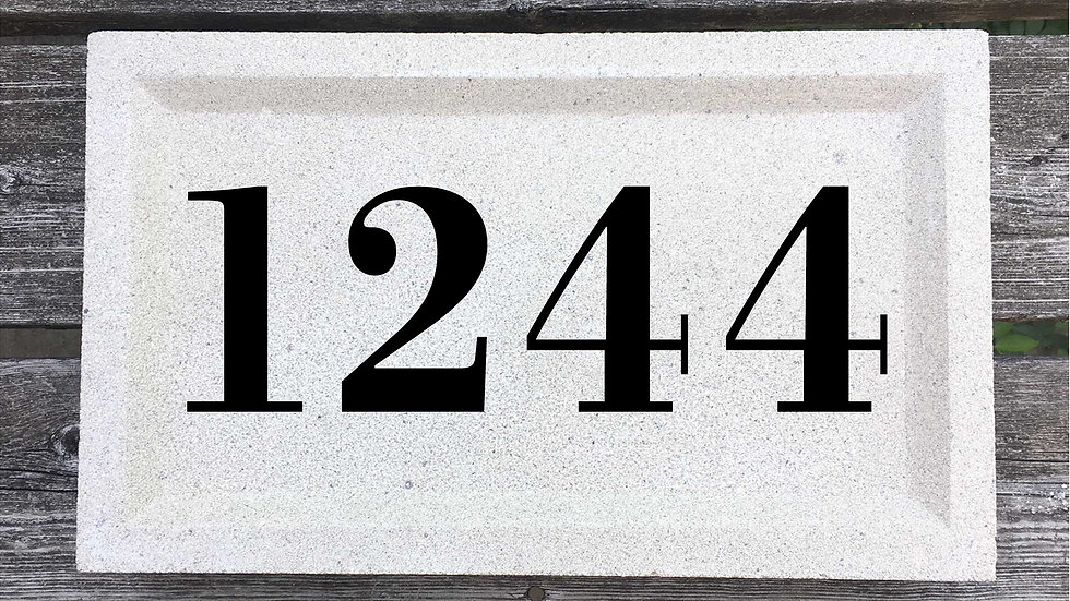 Recessed Edge 15 x 9 x 2 3/4 Bodoni Font