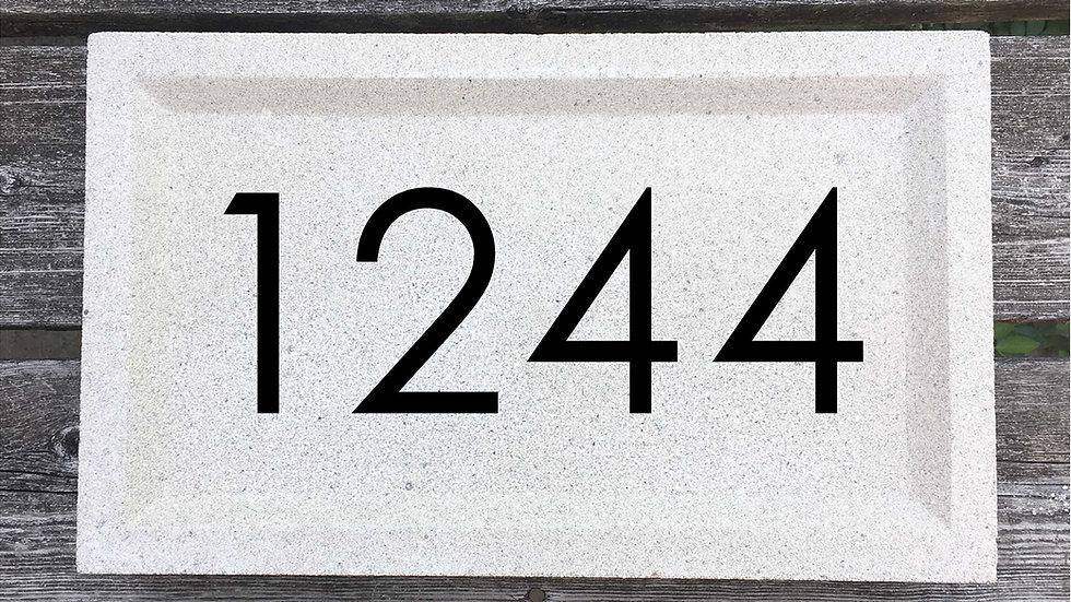 Recessed Edge 15 x 9 x 2 3/4 Century Gothic Font