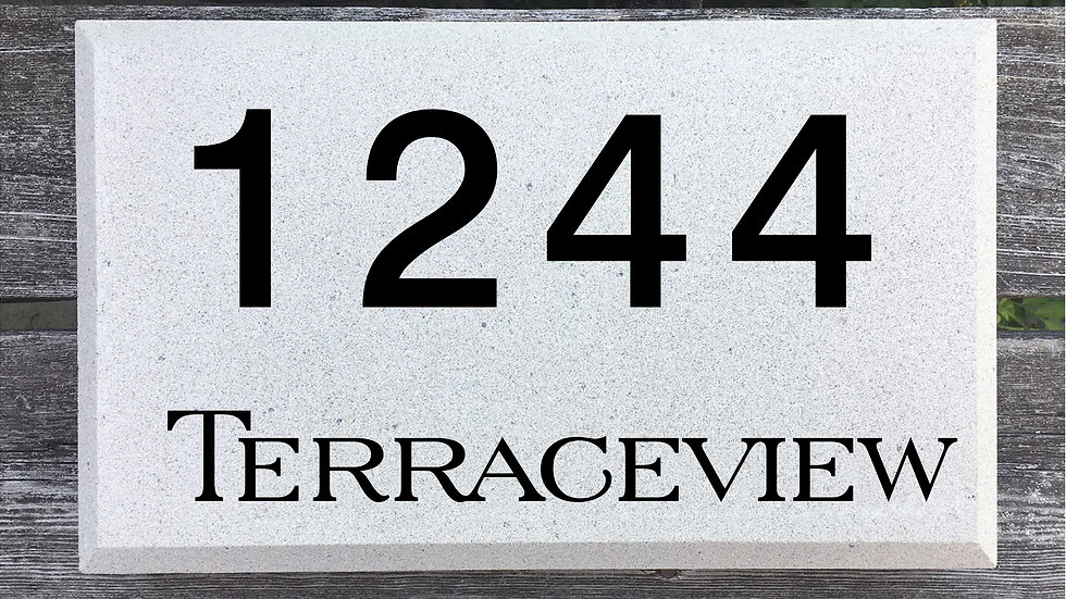 Beveled Edge 15 x 9 x 2 3/4 Block Font and Serif Street Name