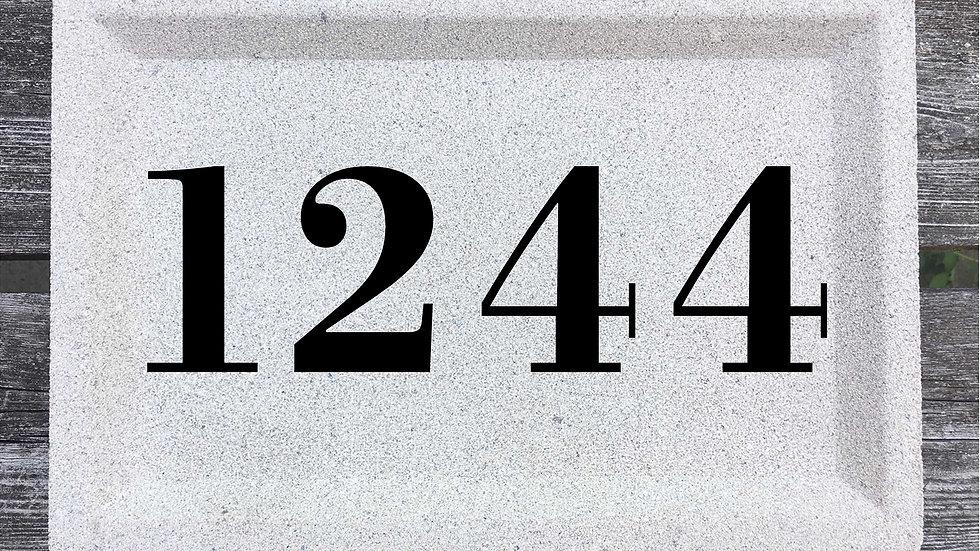 Recessed Edge 12 x 8 x 2 3/4 Bodoni Font