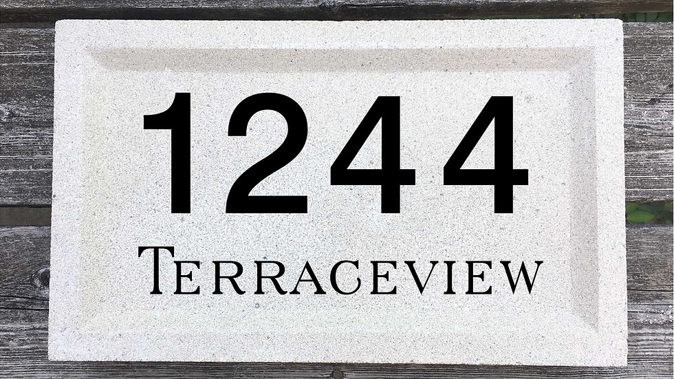 Recessed Edge 15 x 9 x 2 3/4 Block Font and Serif Street Name