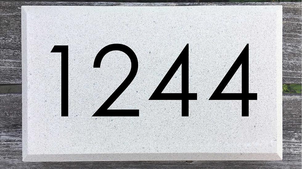 Beveled Edge 15 x 9 x 2 3/4 Century Gothic Font