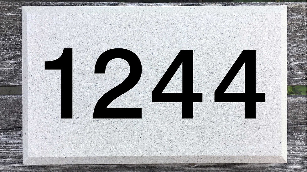 Beveled Edge 15 x 9 x 2 3/4 Block Font