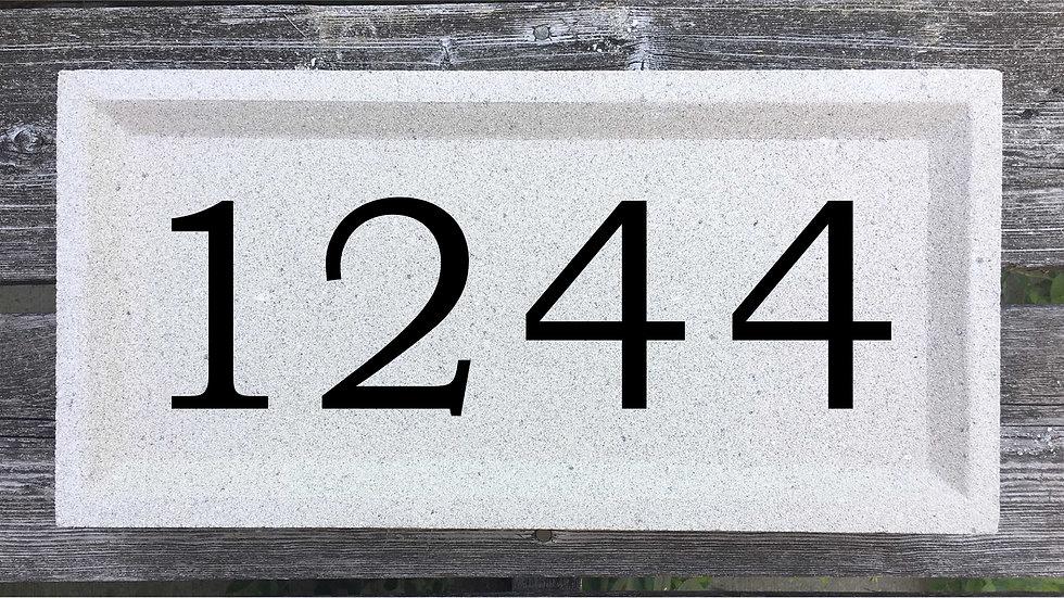 Recessed Edge 15 5/8 x 7 5/8 x 2 3/4 Bookman Font