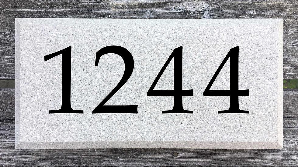 Beveled Edge 15 5/8 x 7 5/8 x 2 3/4 Block Font