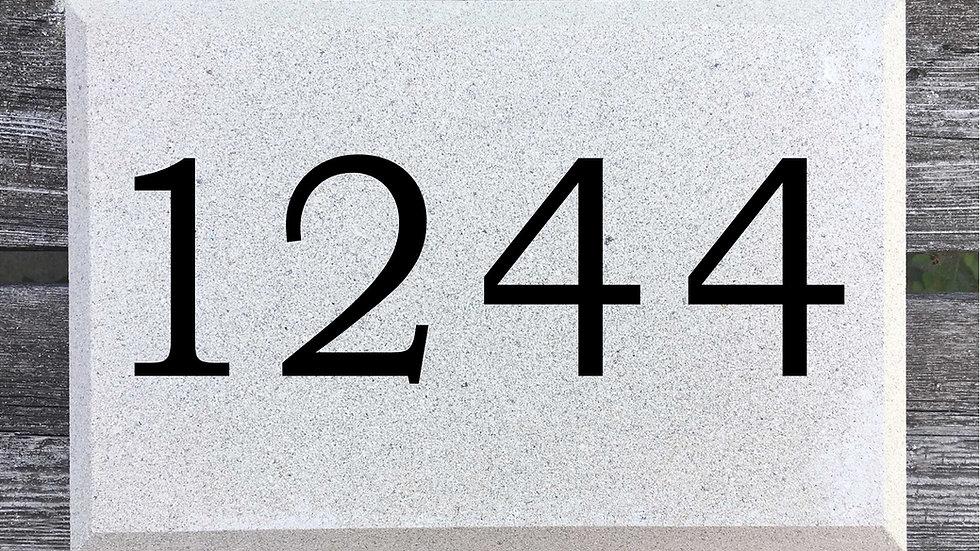 Beveled Edge 12 x 8 x 2 3/4 Bookman Font
