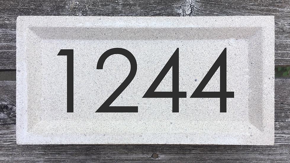 Recessed Edge 12 x 8 x 2 3/4 Century Gothic Font