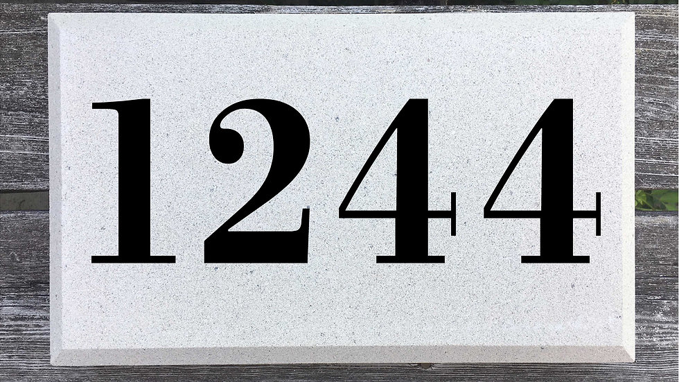 Beveled Edge 15 x 9 x 2 3/4 Bodoni Font
