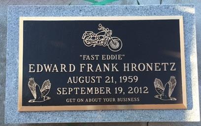 Single Bronze Memorial on Gray Backer