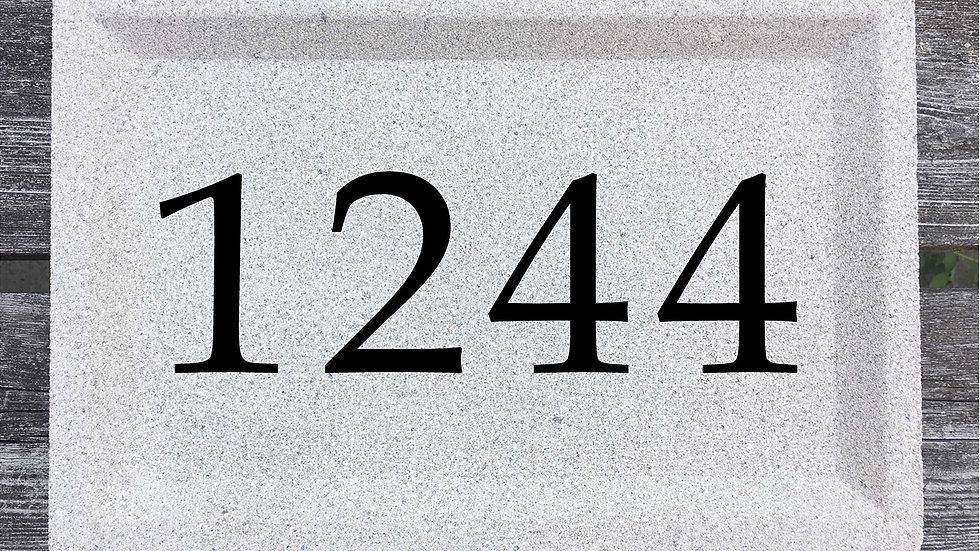 Recessed Edge 12 x 8 x 2 3/4 Book Antiqua Font