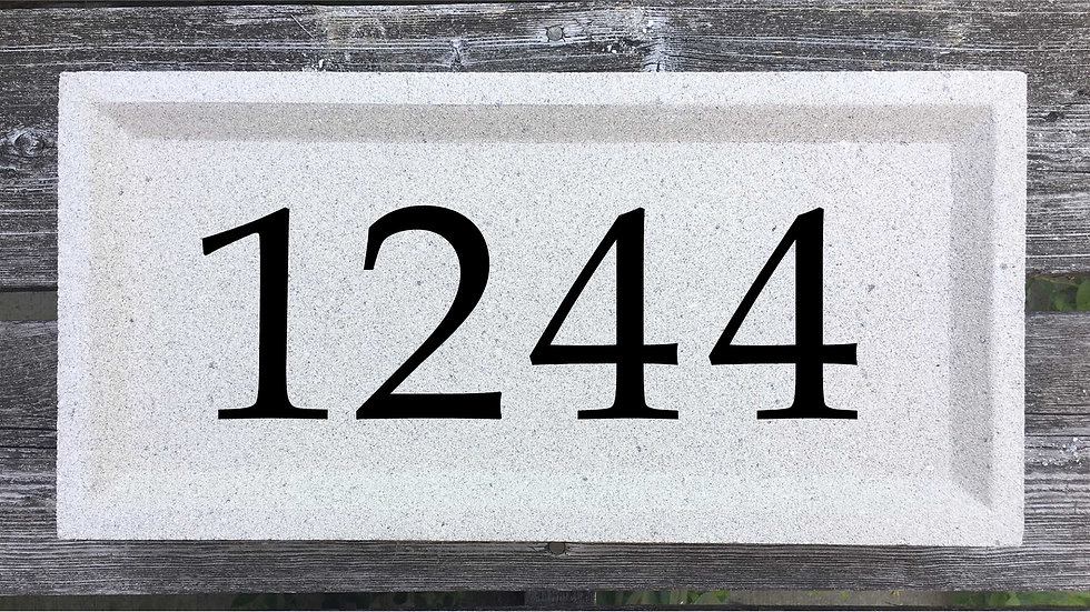 Recessed Edge 15 5/8 x 7 5/8 x 2 3/4 Book Antiqua Font