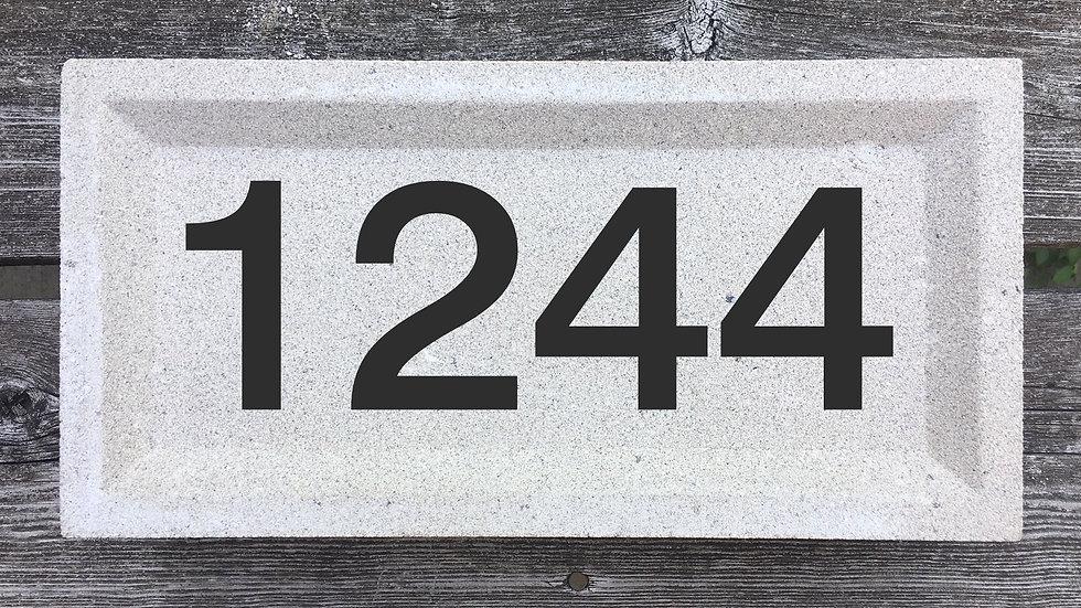 Recessed Edge 12 x 6 x 2 3/4 Block Font