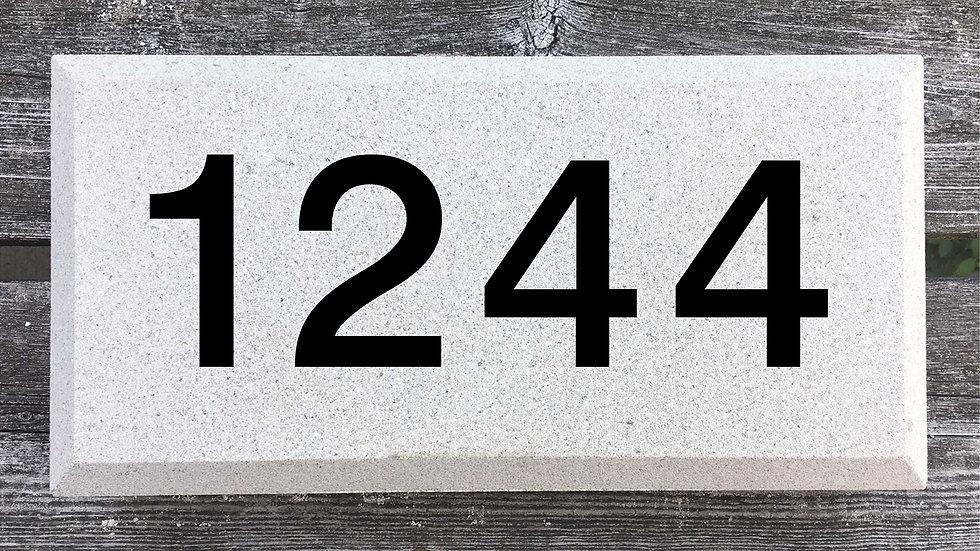 Beveled Edge 12 x 6 x 2 3/4 Block Font