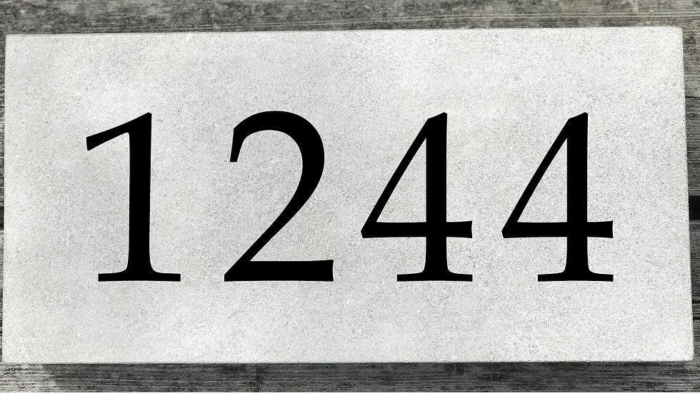 Limestone Straight Edge 15 5/8 x 7 5/8 x 3 Book Antiqua Font