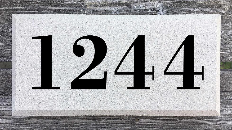Beveled Edge 15 5/8 x 7 5/8 x 2 3/4 Bodoni Font