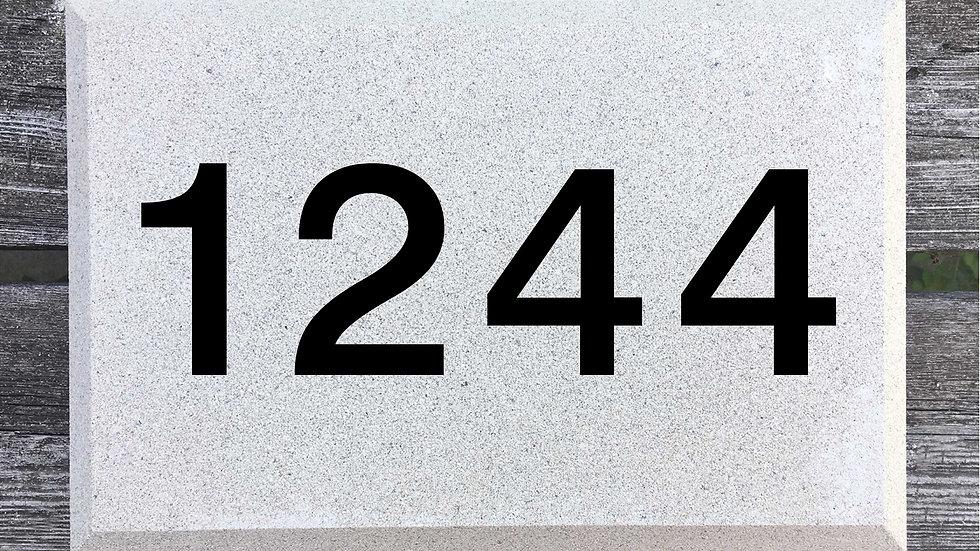 Beveled Edge 12 x 8 x 2 3/4 Block Font