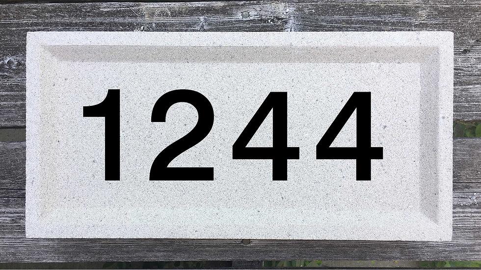 Recessed Edge 15 5/8 x 7 5/8 x 2 3/4 Block Font