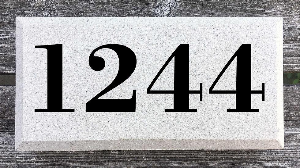 Beveled Edge 12 x 6 x 2 3/4 Bodoni Font