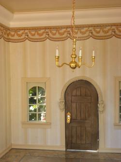 Interior Door and Chandelier