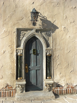 Ornate Door with Gothic Arch