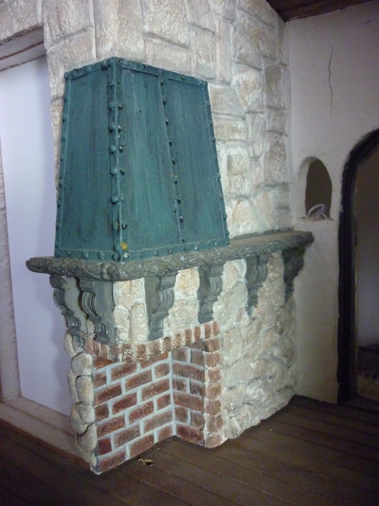 Verdigra Copper over Fireplace