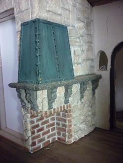 Verdigra Copper over Fireplace