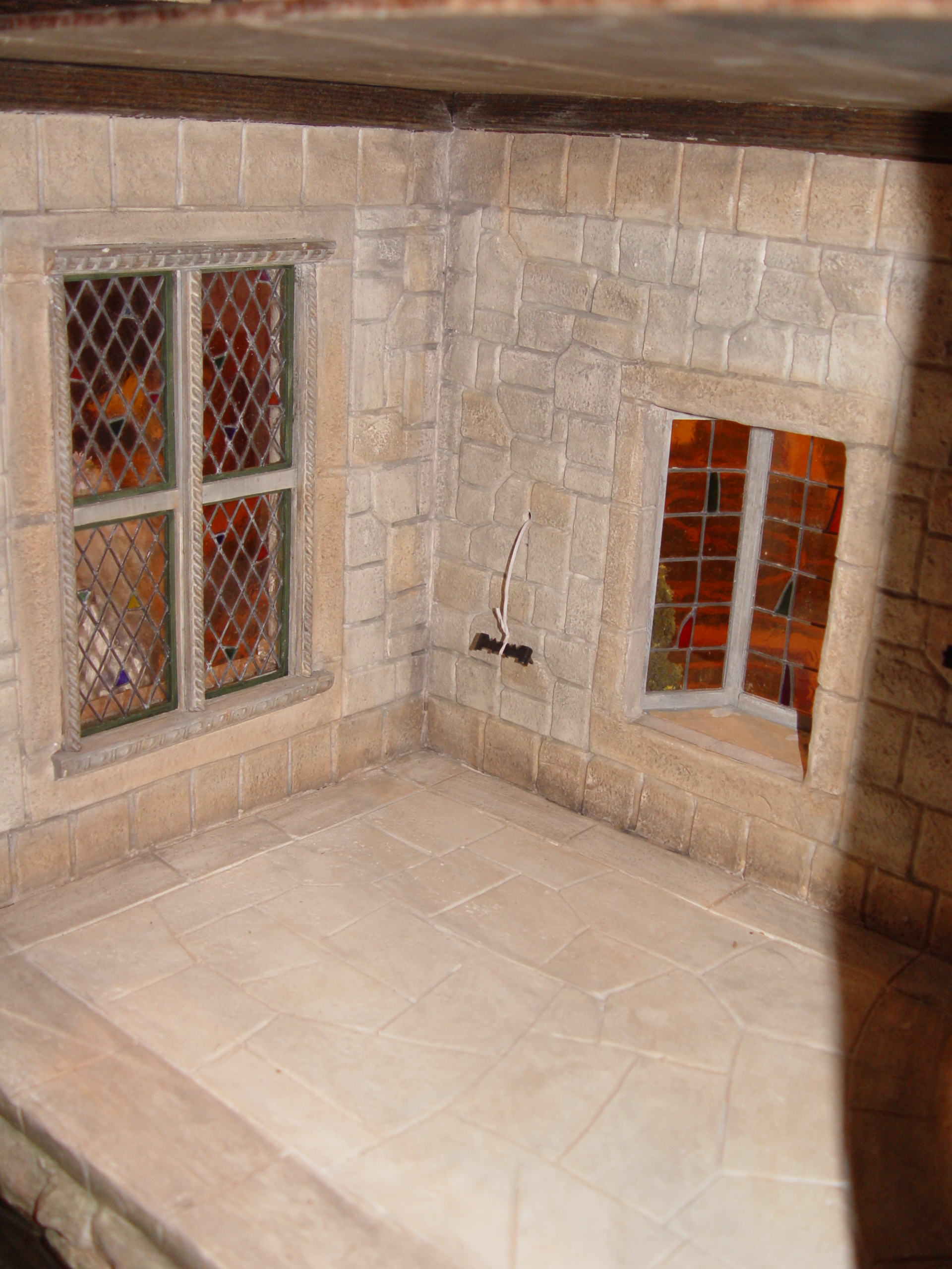 Leaded Windows in Lower Hall