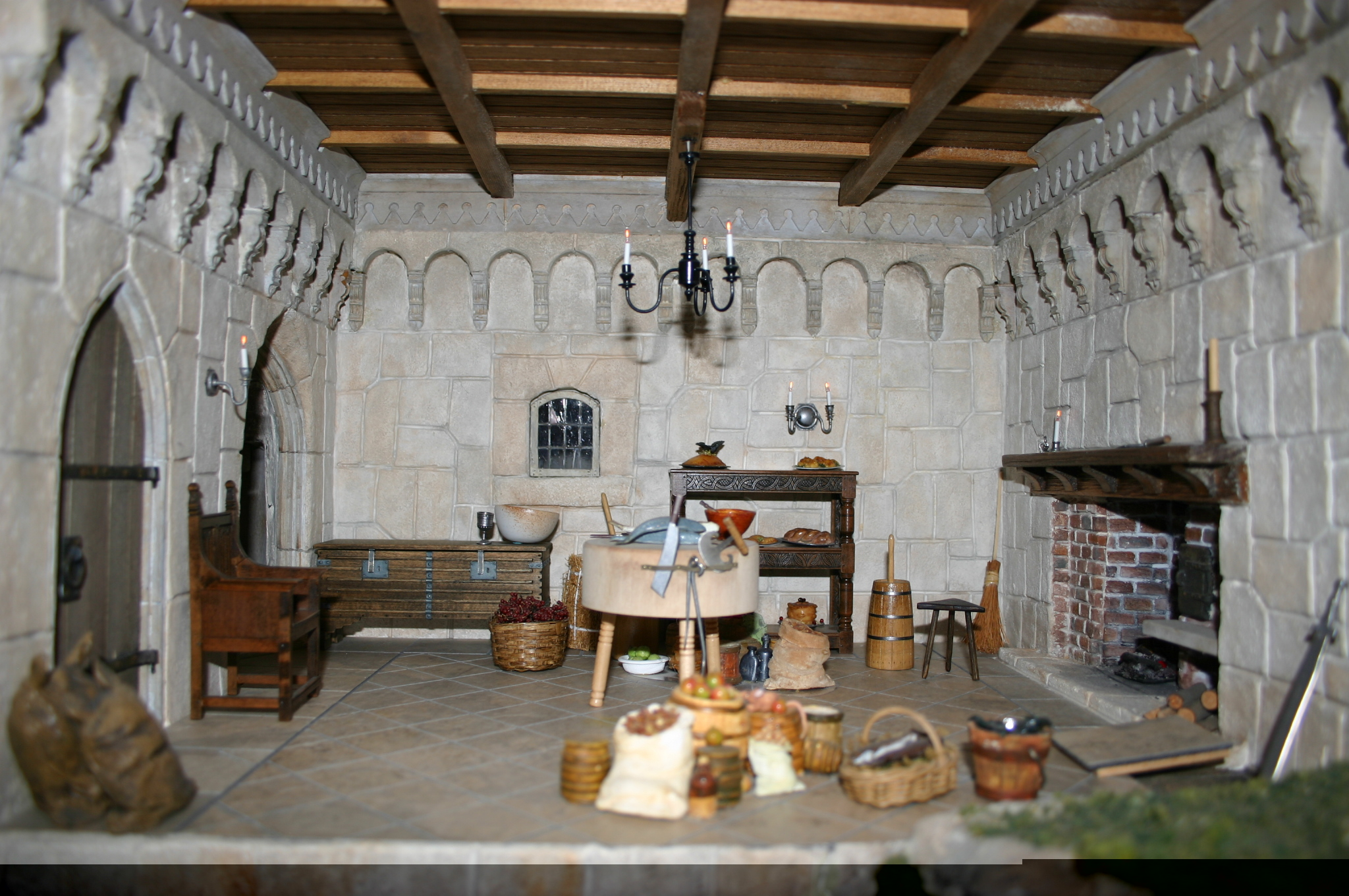Another Room and Fireplace