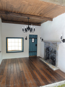 Interior Lower Floor and Fireplace