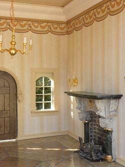 View of Fireplace & Wallpaper