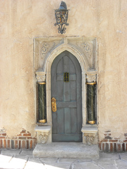 Ornate Door and Columns