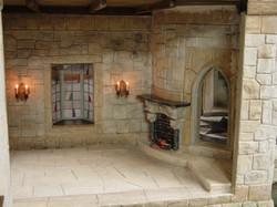 Oriel Window and Fireplace