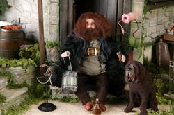 Hagrid and Fang Upclose