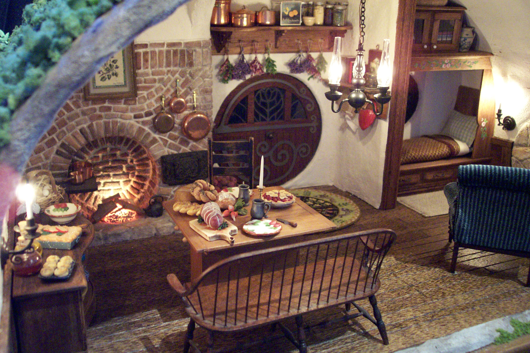 Fireplace and Dining Area
