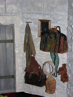 Stone Wall and Coat Area