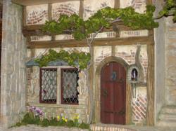 Front Door & Leaded Windows