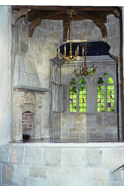 Gothic Windows & Fireplace