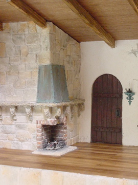 Close Up of Fireplace & Door