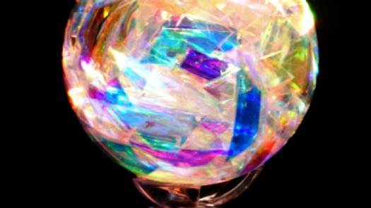 Unique Organic Electro Magnetic Light Healing Sphere 94mm (Grade B+)