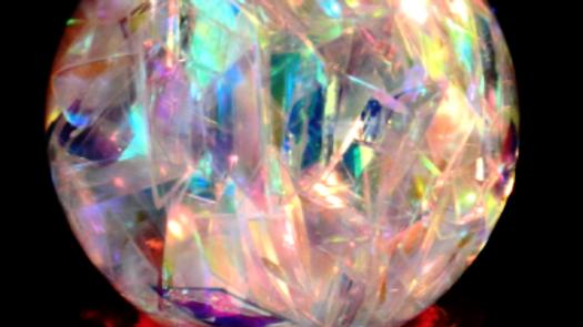 Unique Organic Electro Magnetic Light Healing Sphere 72mm (Grade B+)